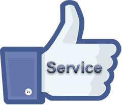 customers like service in social